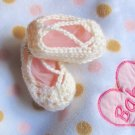 NO SLIP Crochet princess slippers - Sizes 12 to 24 months