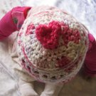 My heart crochet hat 100% Cotton - size 0-12 months