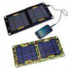 Black,Camouflage 6W/5V Portable outdoor PVC Waterproof mobile phone solar charger panels
