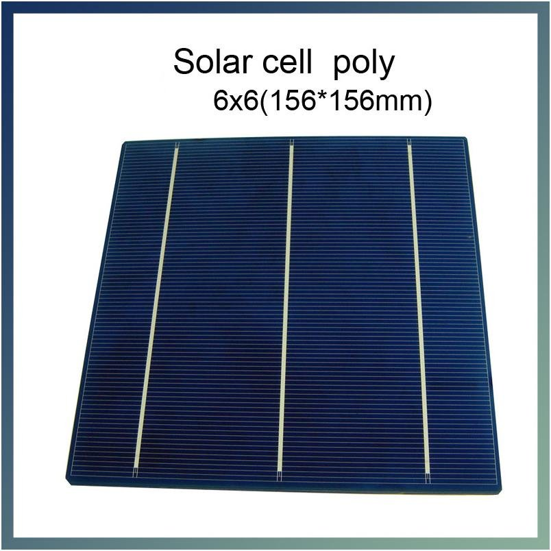 3.9W x 10 piece/lot 6x6 (153x153mm) Poly crystalline silicon solar cells DIY solar panel