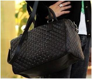 Mango mng designers vintage Women leather handbags rivet bucket bowling bag Women's messenger bag