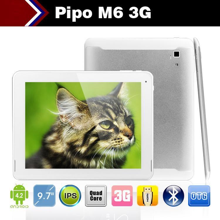 "Tablet PC 9.7"" Pipo M6 pro 3G 2GB RAM 32GB Quad core RK3188 1.6GHz IPS Retina GPS WCDMA HDMI"