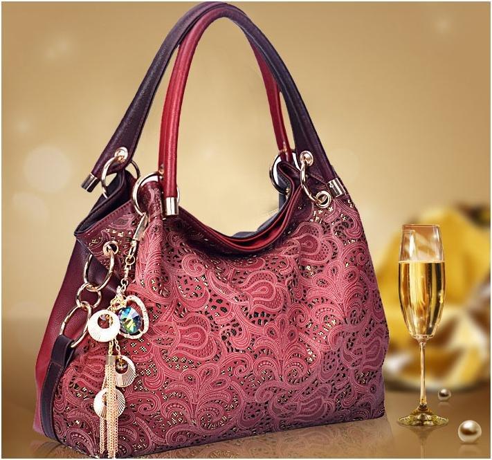 Women's handbag fashion hollow shoulder hand carve designs on woodwork women messenger bag