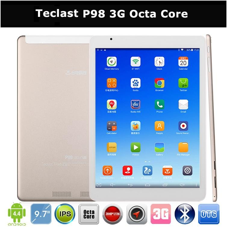 "Phone Call Tablet PC 9.7"" Teclast P98 3G Octa Core Retina IPS Android 4.4 Dual Camera WCDMA GSM"