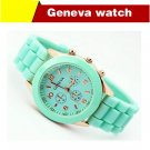 fashion casual Geneva Silicone quartz watch women Jelly Sport wristwatches Woman