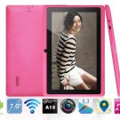 Tablet PC Q88 Allwinner A13 Android 4.0 512MB 4GB Dual Camera WIFI Pink color