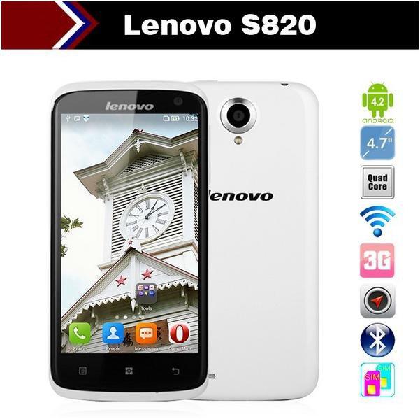 Smartphone Lenovo S820 quad core 4.5 inch IPS MTK6589 1.2GHz 1GB RAM 13.0MP GPS