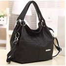 PU Leather bags women messenger bag grafting Vintage Shoulder Handbag Black
