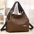 PU Leather bags women messenger bag grafting Vintage Shoulder Handbag Apricot