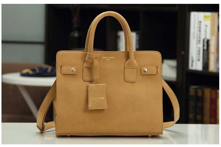 leather handbag single shoulder bag women messenger bag fashion Apricot