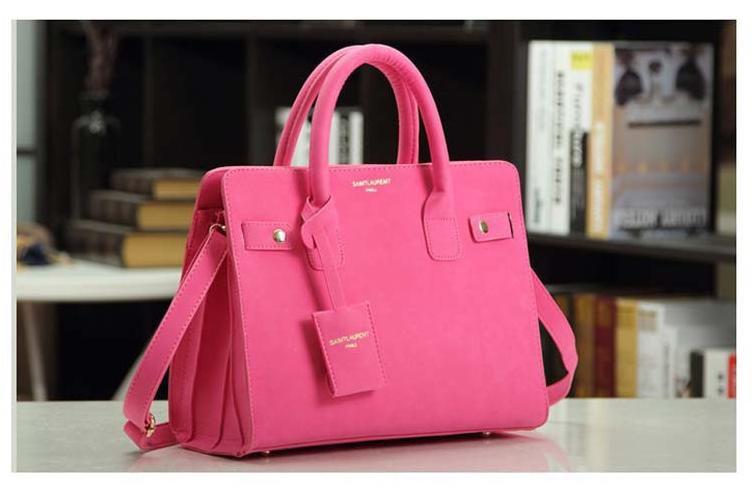 leather handbag single shoulder bag women messenger bag fashion Pink