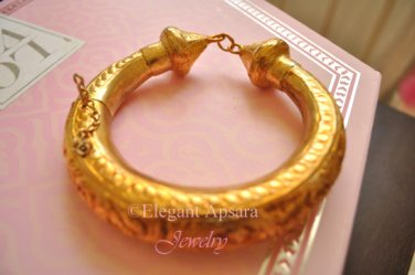 Khmer Gold Chucky Anklet Bangle Bracelet Ethic Traditional Wedding Jewelry Cambodian