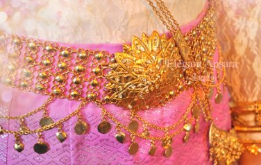 Khmer Cambodian Gold Wedding Jewelry Belt Rachana Khmer Boran Khsae Krovat Cambodian Cambodia