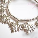 Khmer Silver Leaf Charm Bracelet Traditional Wedding Jewelry Cambodian