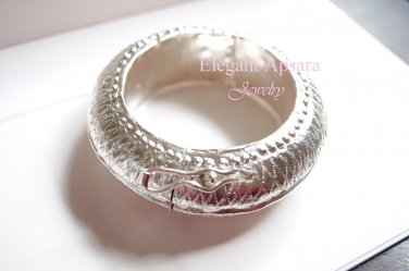 Khmer Silver Chucky Bangle Bracelet Traditional Wedding Jewelry Cambodian Kong Dai