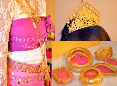 FULL SET Khmer Cambodian Rachana Tradition Wedding Jewelry