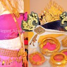 FULL SET 1 Khmer Cambodian Rachana Tradition Wedding Jewelry