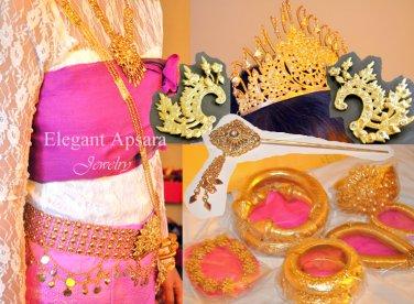 FULL SET 1 Khmer Cambodian Rachana Tradition Wedding Jewelry