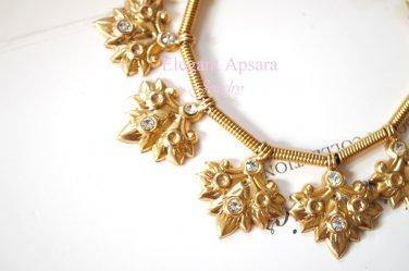 Khmer Silver Large Leaf Charm Bracelet Traditional Wedding Jewelry Cambodian