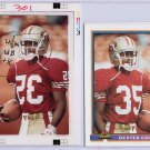 1991 Bowman Topps Vault Football Match Print Photo Proof SF 49ers Dexter Carter 1/1