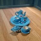 Dolls House Tea Set Blue Flower
