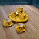 Dolls House Tea Set Yellow Flower
