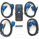 LED Indicator 4-Port USB 2.0 KVM Switch with 4 Sets of Cables