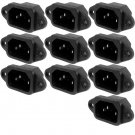 10 x IEC320 Electrical Black C14 Plug Adapter 250V 15A
