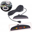 4 Parking Sensors LED Display Auto Car Reverse Backup Radar Kit New