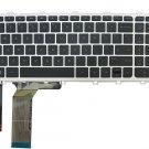 Laptop Keyboard with Backlit & Silver Frame for HP ENVY 15-j000 15t-j000 15z-j000 RU Black