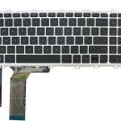 Laptop Keyboard with Backlit & Silver Frame for HP ENVY 17-j000 17t-j000 US layout Black