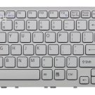New White US Keyboard fit Sony 148927011 NSK-SB0SQ01 0AW01111 with white frame