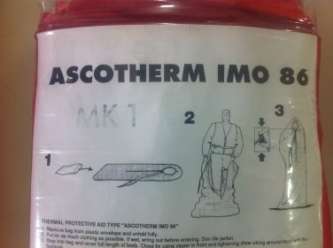 Set of 3 AscoTherm IMO86 Thermal Protective Aid
