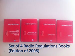 Complete Set of Radio Regulation Edition of 2008 Publication.( 4 Books )