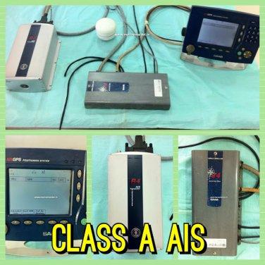SAAB R4 AIS Transponder Complete Set with Display, Transponder and Antenna