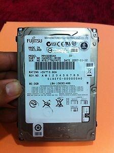 Fujitsu 80 GB Hard drive 2.5 Inch IDE