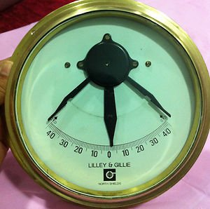 Lilley & Gilley Marine Inclinometer  Made of Marine Quality Brass.