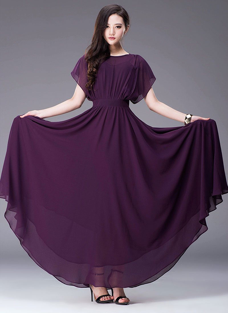 Indigo Maxi Dress with Dolman Sleeves RM435