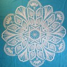 "#204 Hand Made Crocheted White Pinapple Doily - 32"" Round"