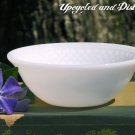 Vintage Federal White Milk Glass 5 Inch Bowl with Inner Diamond Pattern