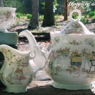 Brambly Hedge Jill Barklem Royal Doulton Tea Service Set Teapot Creamer Sugar