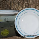 Fire King Anchor Hocking Blue Teal Band Two (2) Salad Plates