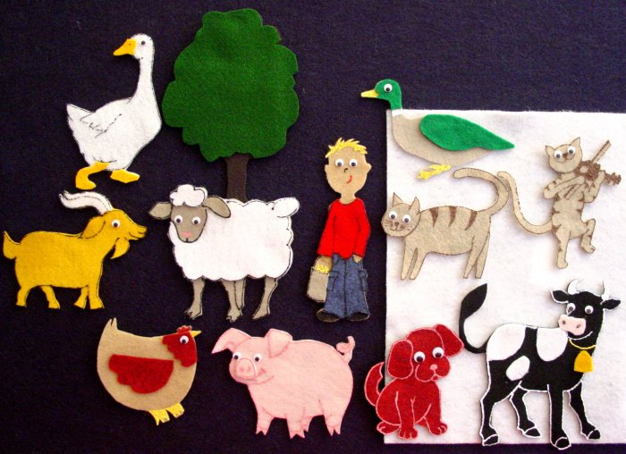 Fiddle-I-Fee 12 pc Flannel Felt Story