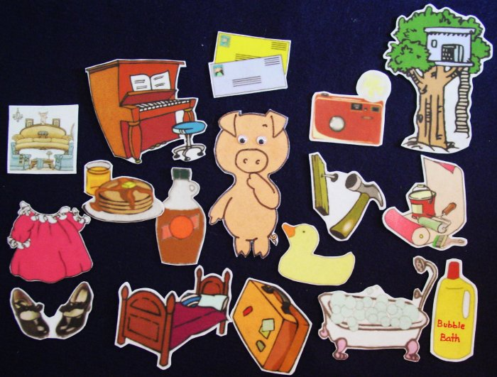 If you give a pig a pancake 17-pc Flannel Felt Story