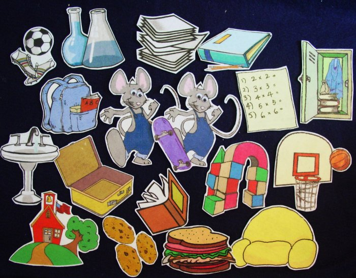 If You Take a Mouse to School 18-pc Flannel Felt  Story