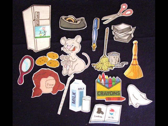 If You Give a Mouse a Cookie 17-pc Flannel Board Felt Story