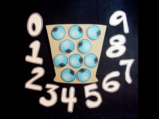 Blueberries for Sal (Counting Game) 21-pc Felt