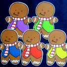 Five Little Gingerbread Men 5-pc Flannel Felt Story