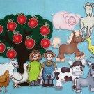 Ten Red Apples 23-pc Flannel Felt Set
