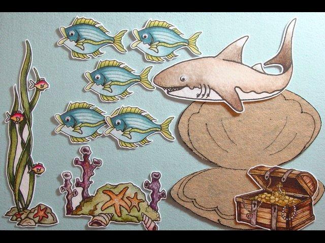 Five Little Fishes & Mr. Shark Felt Story
